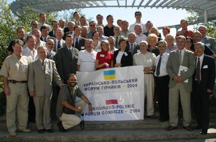 The participants of Ukrainian-Polish forum coalminers Yalta in 2004